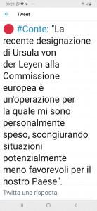 Conte Van Del leyen