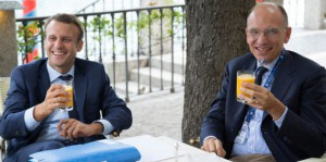 Enrico Letta and Emmanuel Macron