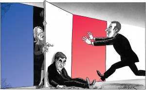 macron cartoon schrank