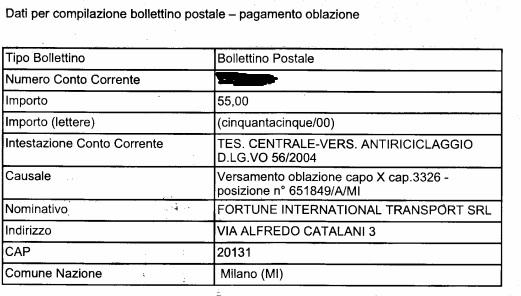 Occhio agli assegni e alle multe del tesoro il blog di for Bollettino precompilato