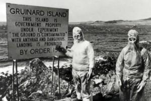 Contaminazione dell'isola di Gruinar, Scozia