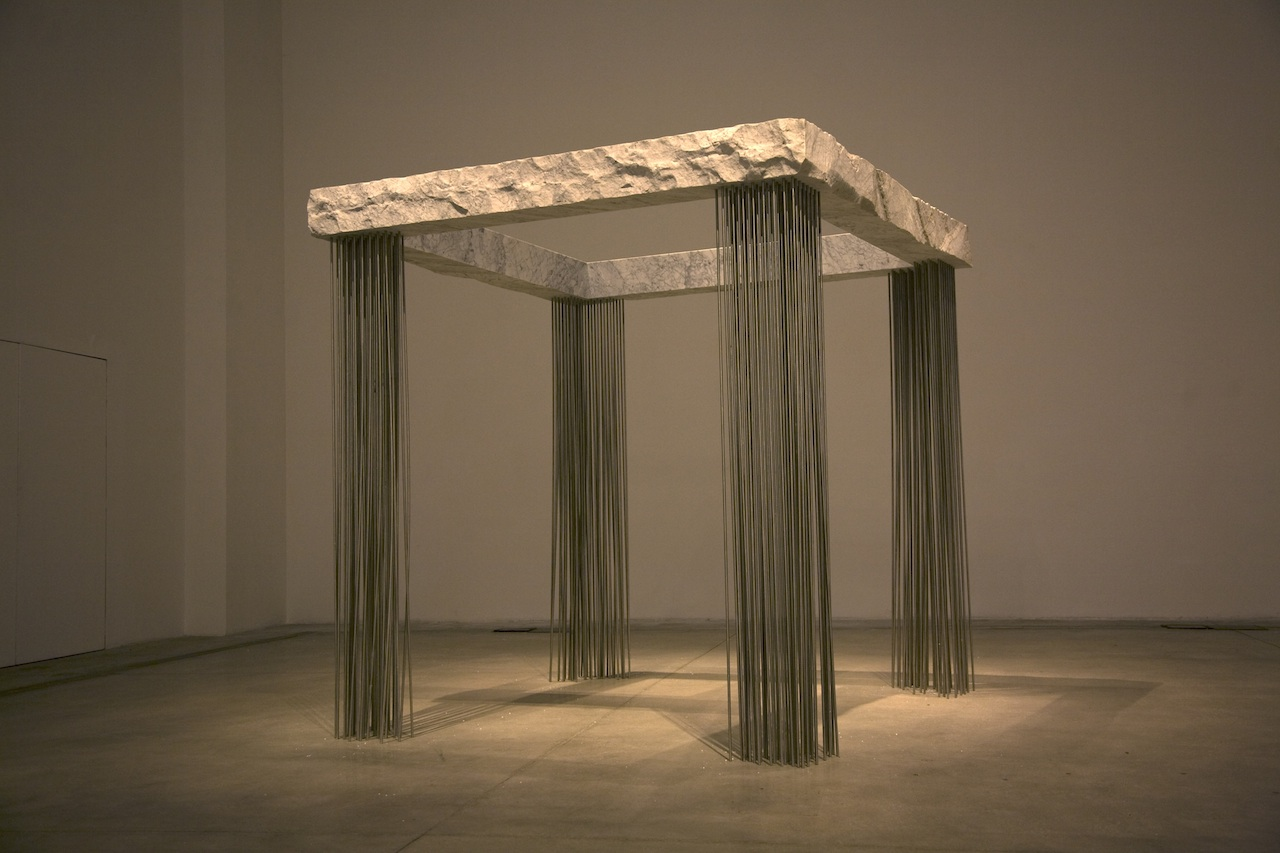 Epicarmo, low res - 2012, marble and steel, 230 x 230 x 230 cm.IMG_0638