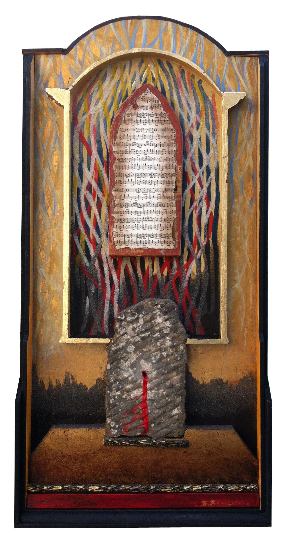 requiem - omaggio a G.Verdi, 115x57 cm, 2013