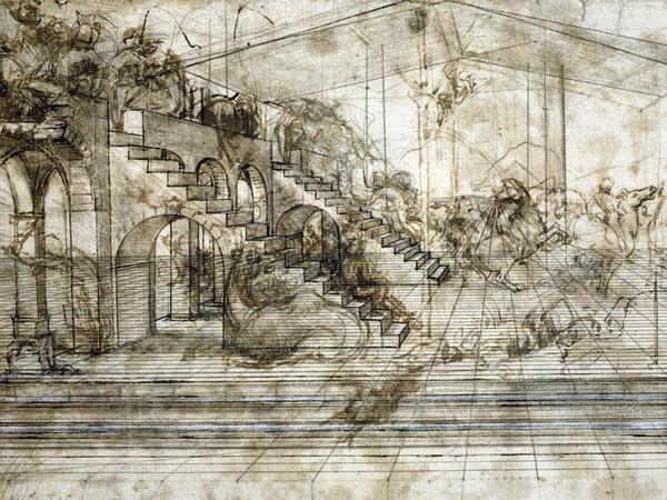 31679-10_ID_26_Leonardo_da_Vinci_Scenario_architettonico_e_rissa_di_cavalieri_Studio_prospettico_per_l_Adorazione_dei_Magi_UF