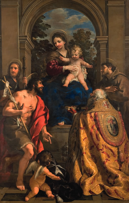Pietro da Cortona - Madonna con Bambino e i Santi