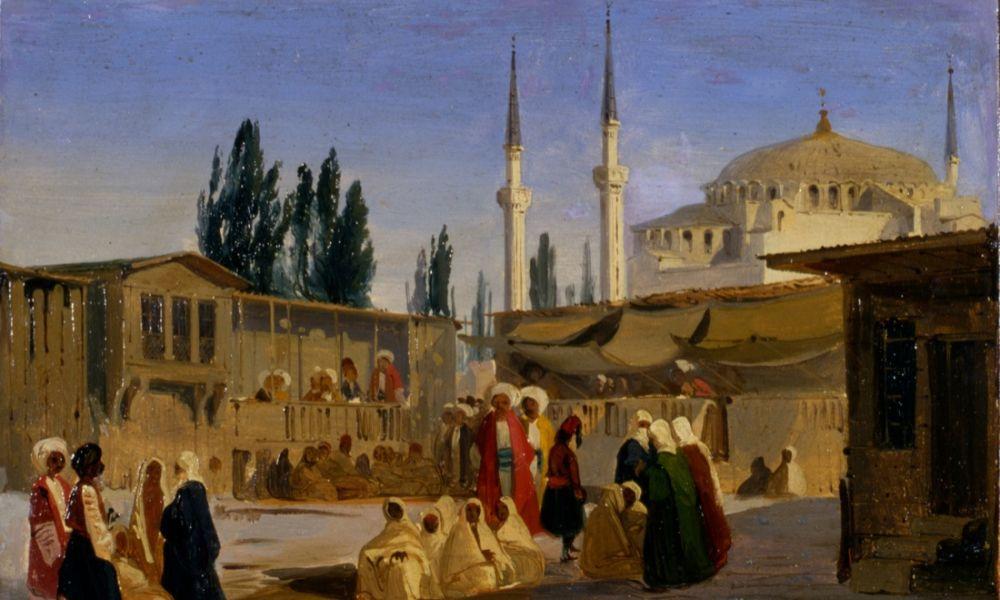 16-Caffi-Ippolito_Costantinopoli-Bazar-turco-1000x600