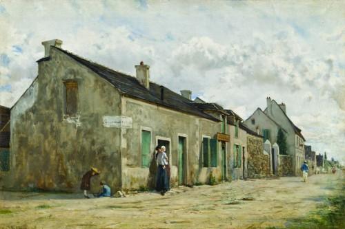 45. Telemaco Signorini Combs la Ville 1873 c. olio su tela cm316x472 Butterfly Institute Fine Art