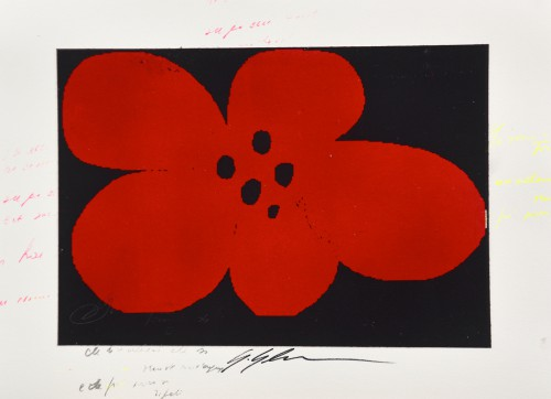 Giuliano_Grittini,_RED_FLOWER_2,_2015,_Tecnica_Mista_su_carta,_50x65cm.,__