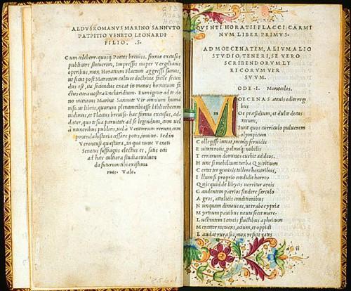 libro stampato da aldo manuzio