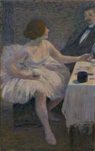 18 - Zandomeneghi F. - Visita in camerino, olio su tela 53 x 34 cm