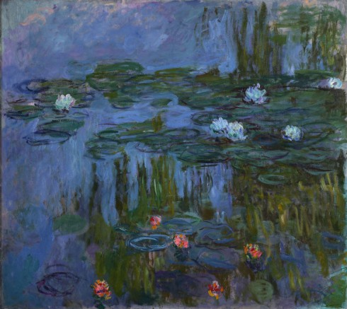 Claude-Monet-Water-Lilies-1914-15-Oil-on-canvas.-Portland-Art-Museum-Oregon-inv.-59.16.-Helen-Thurston-Ayer-Fund.-Photo-©-Portland-Art-Museum-Portland-Oregon.-590x526