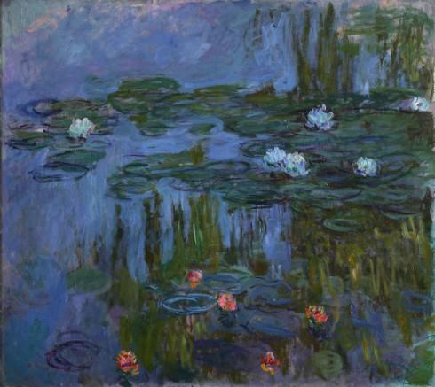 Claude-Monet-Water-Lilies-1914-15-Oil-on-canvas.-Portland-Art-Museum-Oregon-inv.-59.16.-Helen-Thurston-Ayer-Fund.-Photo-©-Portland-Art-Museum-Portland-Oregon.-590x526