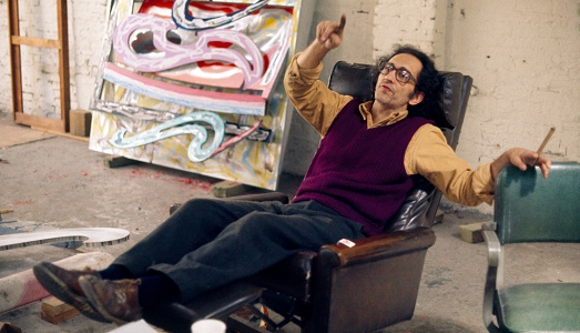 USA. NYC. Frank STELLA in his Manhattan studio.