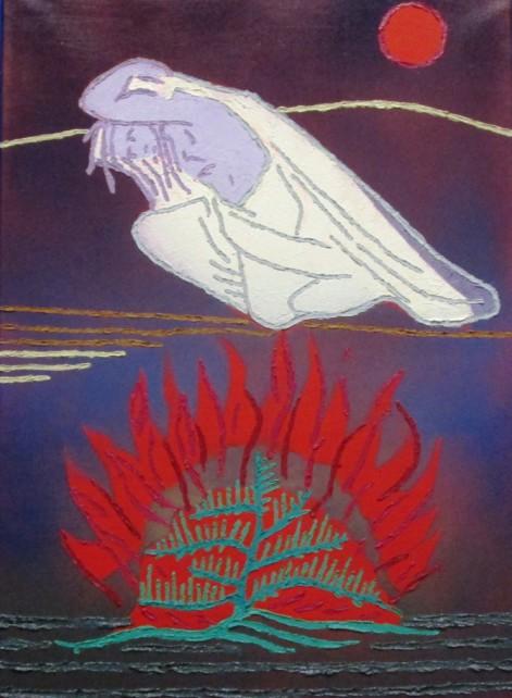 Si copre Mosè  Olio su tela (50x70)