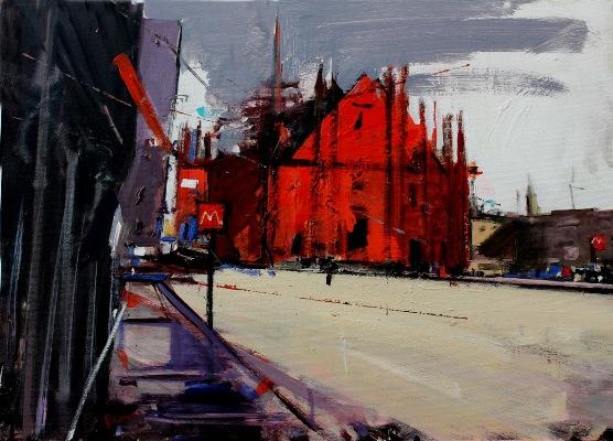 Alessandro_Russo,Duomo_rosso,2015,acrilico_su_tela,_50x70cm