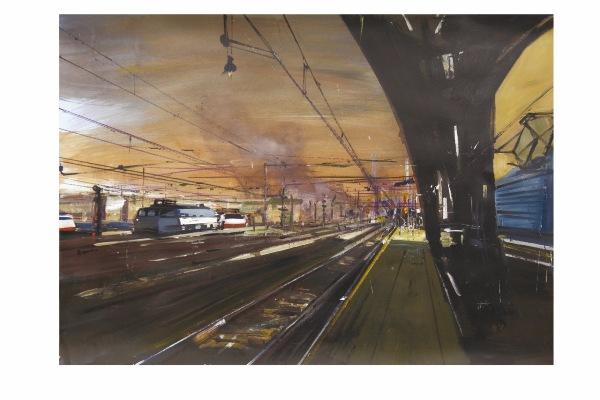 Milano,_stazione_centrale_verso_sera,_2014,_acrilico_su_carta_su_tela,_69x96cm