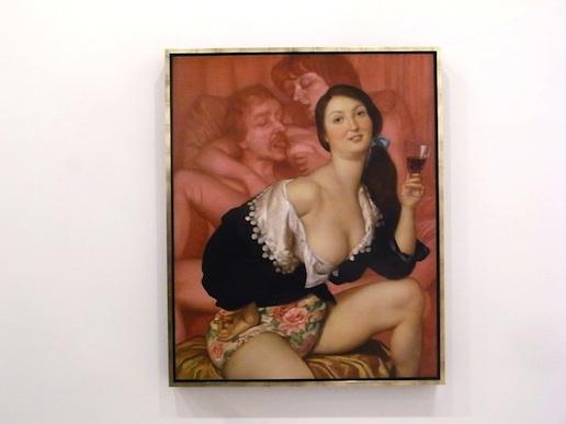 John-Currin-painting-at-Gagosian-in-Paris