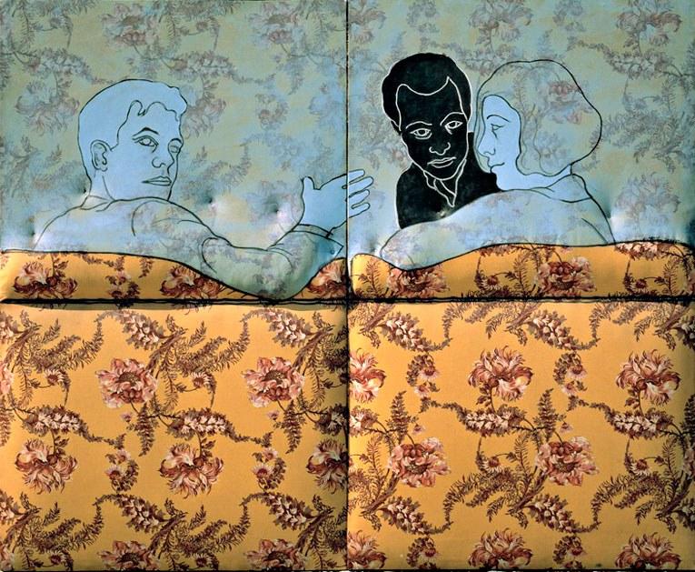 Cesare-Tacchi-Sul-divano-a-fiori-1965-inchiostro-e-smalto-su-stoffa-imbottita-su-legno-159-x-200x7-cm-1
