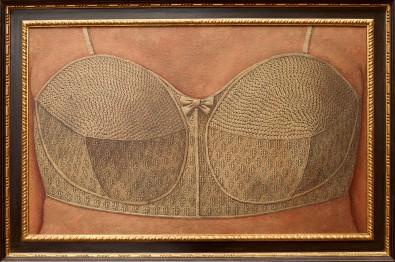 Domenico-Gnoli-Reggiseno-1964-acrilico-e-sabbia-su-tela