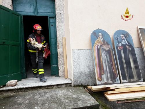 5_Recupero Opere Chiesa San Pellegrino_fotoVVFF