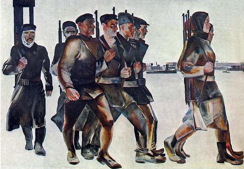 Aleksandr-Deyneka-The-defense-of-Petrograd