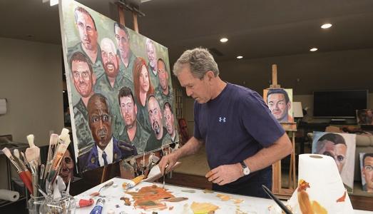 president-bush-painting