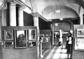 ENTRATA DELLA GALLERIA PESARO IN VIA MANZONI 12-PALAZZO POLDI PEZZOLI-DALLA GALLERIA PESARO IN MILANO-1917 CIRCA