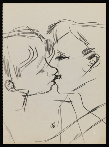 Keith-Vaughan-Drawing-of-Two-Men-Kissing-1958–73.-Tate-Archive-©-DACS-The-Estate-of-Keith-Vaughan.-Courtesy-Tate