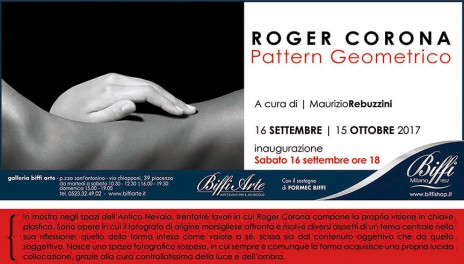 Inaugurazione SAVE THE DATE-Roger Corona-16 settembre_15 ottobre-Biffi Arte Piacenza