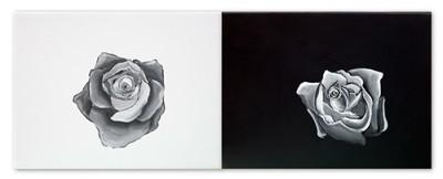Bruno Mangiaterra-Rosa Rosae-dittico olio su tela-cm.80x100 cadauno-2017