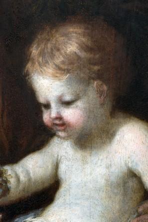 Il Bambino dopo il restauro, part.