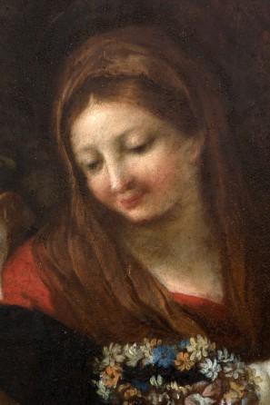 La Vergine dopo il restauro,part.