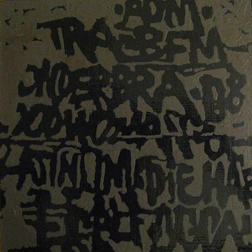 Paolo Barrile-Scrittura-acrilico su tela-cm.20x20-1999