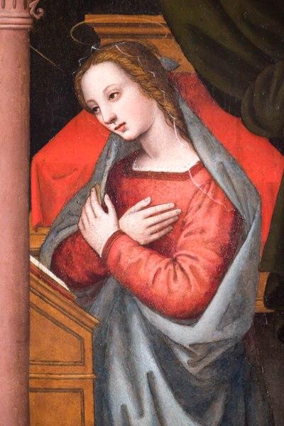 Detaglio Annunciazione Francesco Cacchiani