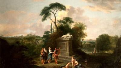 Francesco Zuccarelli, Paesaggio arcadico_ Inghilterra, Collezione privata-2