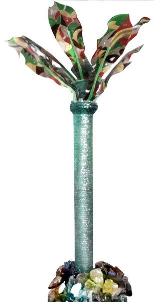 L'ALBERO DELLA PACE,altezza cm.280,cristallo e vetrofusione,2010