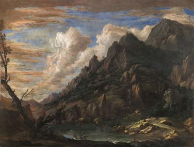 Pietro da Cortona, Paesaggio con il Monte Sassone sulla Tolfa