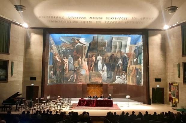 Aula-Magna-del-Rettorato-con-il-dipinto-murale-di-Mario-Sironi-LItalia-fra-le-Arti-e-le-Scienze-©-Vittoria-Sut-4