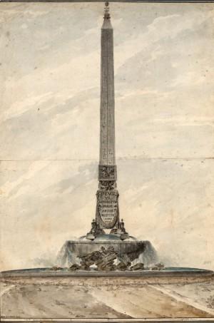 Giovanni-Stern-Progetto-per-l'innalzamento-dell'Obelisco-Barberini1788-c
