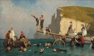 LE-POITTEVIN-La-baignade-à-Etretat-v1858-1000x600