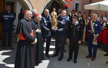 La riconsegna delle statue di Domenico da Tolmezzo a Zuglio (ph. Comune di Zuglio)