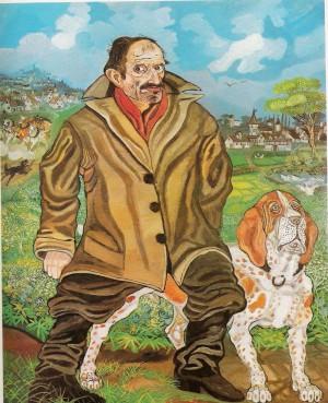 autoritratto-con-cane-1957