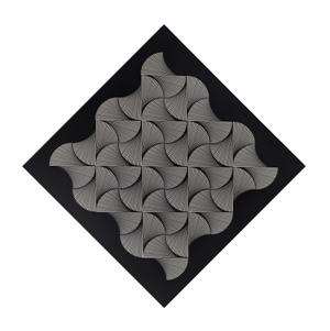 10- FRANCO GRIGNANI, Proiezione strutturata su moduli, 1964, sperimentale ottico di distorsione su tavola, 70x70 cm, diagonale 100 cm