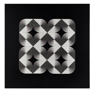 13- FRANCO GRIGNANI, Fenomeno plastico, 1966, sperimentale ottico di distorsione su tavola, 70x70 cm