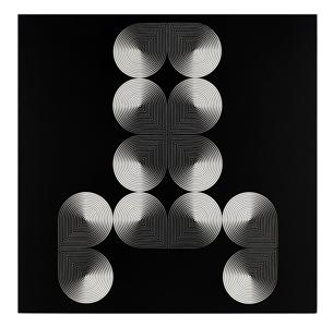 14- FRANCO GRIGNANI, Induzioni abbinate, 1966, sperimentale ottico di distorsione su tavola, 70x70 cm