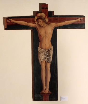 Antonio da Fabriano, Crocifisso. 1452 tempera dipinta