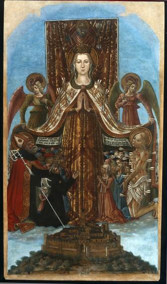 Gonfalone di Corciano, Bendetto Bonfigli, 1472. tempera su tela