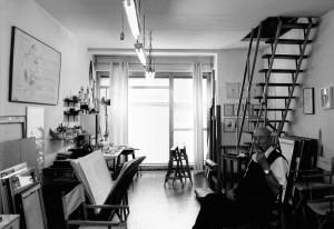 Riccardo-Guarneri-nello-studio-di-via-Campo-dArrigo-Firenze-2016