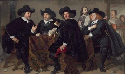 The-Headmen-of-the-Arquebusiers-Civic-Guard-House-1655-by-Bartholomeus-van-der-Helst-1613-1670.-Amsterdam-Museum.