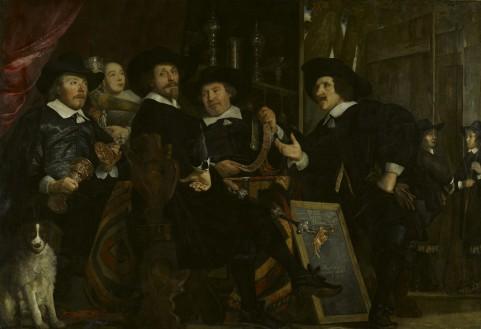 The-Headmen-of-the-Longbow-Civic-Guard-House-1653-by-Bartholomeus-van-der-Helst-1613-1670.-Amsterdam-Museum.(1)